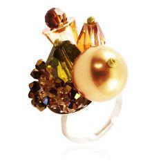 Bijoux De Ja Multi Color Shape Swarovski Crystal Tuft Handmade Adjustable Ring Size 5-7 Bijoux De Ja http://www.amazon.com/dp/B00CRVPKS2/ref=cm_sw_r_pi_dp_QrV-vb185367F