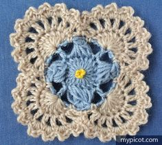 MyPicot | Free crochet patterns. ***A much smaller version of the square to the left.***