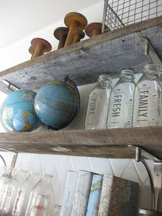 Love the rub-ons on the bottles, and the books covered in maps. (And the spoooools... and... everything else too.)