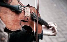 I play the violin when I'm thinking...