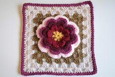 "CraftyMinx Granny Square  ""Gran's Garden Flower #15"""