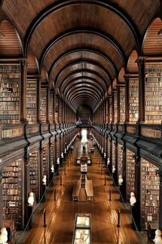 Trinity College Long Room in Dublin, Ireland