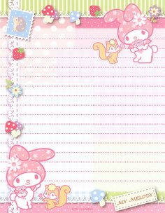 "Sanrio My Melody Letter Set (""Mushroom"") 