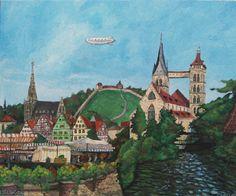 """Saatchi Art Artist Christophe Williart; Painting, """"Esslingen"""" #art"""
