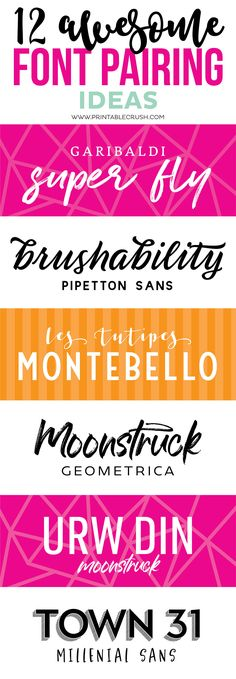 These Font Pairing Ideas are gorgeous! The fonts from Design Cuts pair beautifully! Vintage Fonts, Vintage Typography, Typography Fonts, Graphics Vintage, Vector Graphics, Free Cursive Fonts, Handwritten Fonts, Font Free, Food Font