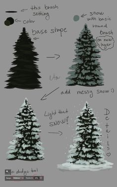 ___ tutorial__evergreen_tree ____ by_naia_art-daulaod.jpg × 1200 ___ tutorial__evergreen_tree ____ by_naia_art-daulaod. Digital Painting Tutorials, Digital Art Tutorial, Art Tutorials, Watercolor Painting Tutorials, 3d Tutorial, Painting Patterns, Inspiration Art, Creative Inspiration, Christmas Art