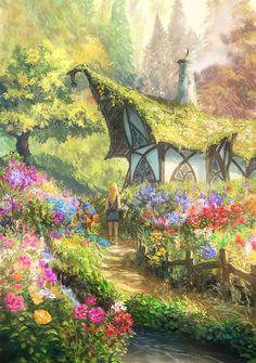 Kai Fine Art is an art website, shows painting and illustration works all over the world. Fantasy Concept Art, Fantasy Artwork, Fantasy Places, Fantasy World, Fantasy Art Landscapes, Landscape Art, Landscape Design, Fantasy Garden, Art Anime