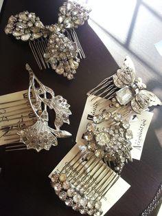 Lovely vintage hair clips