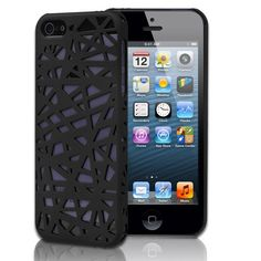 CE Compass Bird's Nest Design Hard Case Cover For iPhone 5 (Black). Protect your iphone 5 against dust and scratches. Extremely tough, durable case molds perfectly to your iPhone's shape without compromising usability. Snap-on case adds a splash of color and delivers instant, all-around protection. Provides easy access to all functions without removing the case.