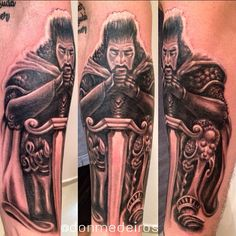 . #donmedeiros #art #arte #tattoo #tatuage #tatuagem #instaart #tattooist #everlastcolors #evolvecrew #evolutioncarai #blackandwhite #bnginksociety #warriors #warrior #joaopessoa #jampa #oquetemjp #electricink #ink #tattoo_clube
