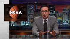 Why is it soooooo terribly difficult for some people to just be plain decent, caring, compassionate human beings? Last Week Tonight with John Oliver: The NCAA (HBO) Love And Basketball, College Basketball, Basketball Games, Volleyball Rules, Last Week Tonight, John Oliver, Ncaa Tournament, Jon Stewart, March Madness