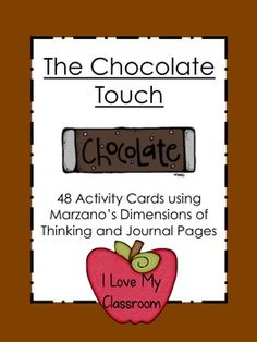 Chocolate Touch Unit (Activity Cards and Journal Pages) Teaching Reading, Guided Reading, Teaching Ideas, The Chocolate Touch, Classroom Organization, Classroom Management, Classroom Ideas, 2nd Grade Reading, Schools First
