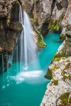River Soca, Slovenia by Andreas Resch-Amazing World