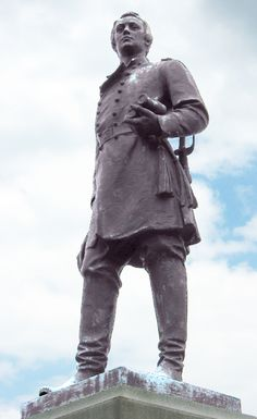 Francis Channing Barlow - The monument to Brigadier General Francis Barlow is north of Gettysburg on Barlow's Knoll, off Howard Avenue.