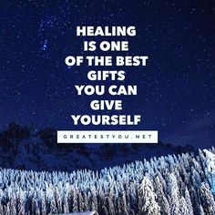 Reposting @greatestyou: Healing is one of the best gifts you can give yourself.