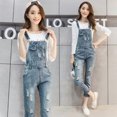 Cheap women denim jumpsuit, Buy Quality denim jumpsuit directly from China overall jumpsuit Suppliers: New 2017 Summer Womens Denim Jumpsuits Overalls Sexy Jeans Casual Ripped Hole Pocket Spring Straight Pants Femme F147