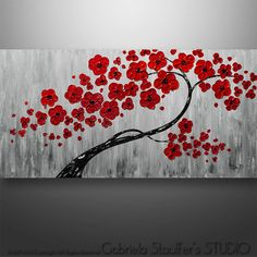Acrylic Abstract Painting Art Landscape Painting Floral by Catalin on Etsy