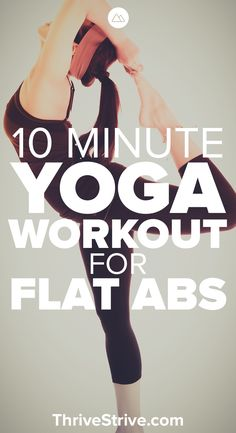 Ready to do some yoga to lose weight and get killer abs? This 10-minute yoga routine will help you get flat abs, build a strong core, and relax your mind.