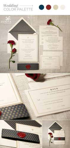 An intimate wedding in los angeles california wax seals classic ivory navy gold fleur de lis wedding invitations finished with a red stopboris Gallery