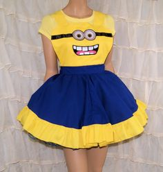 Minion Cosplay Pinafore Apron Costume Skirt Adult ALL Sizes - MTCoffinz by mtcoffinz on Etsy