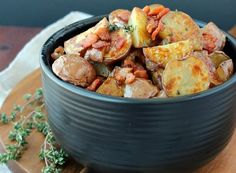 Warm maple bacon Creamer potato salad - The Little Potato Company
