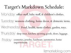 Target markdown schedule - lizmarieblog.com