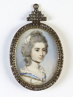 Burghley Collections | A Lady, English School, after George Engleheart.