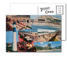 Atlantic City Collage Postcard