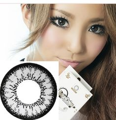 angel grey big eye contacts, circle lenses Canada