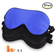 Elongdi 3 Pack Natural Silk Sleep Mask, 100% Pure Mulberry Silk Eye Mask, Breathable Smooth Soft Lightweight Blindfold with Bonus Ear Plugs for Sleeping (2xBlack/1xBlue). 100% Pure Mulberry Silk: Elongdi Sleep Masks filled with 100% authentic pure mulberry silk, Breathable silk floss on both sides, which is a porous fiber excellent in Hygroscopicity and Moisture Permeability and reliable cleaning. Its hypoallergenic characteristic makes it comfortable even for sensitive skin. Stable…