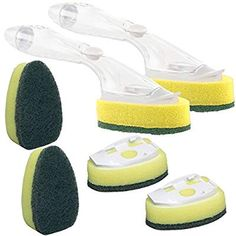 Scotch-Brite Dishwands and 6 Refill Replacement Heads) Heavy Duty Dish Wand Sponge For Kitchen Sink Cleaning Brush ** Details can be found by clicking on the image. (This is an affiliate link) Washing Towels, Washing Dishes, Casa Jenner, Thieves Household Cleaner, Kitchen Sponge, Oil Storage, Cooking Gadgets, Brush Cleaner, Kitchen Sink