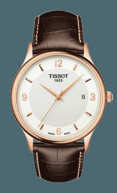 tissot rose dream quartz gent gold & steel