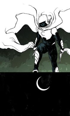 "Every issue of the new ""Moon Knight"" inspires me a lot. Ellis and Shalvey — amazing tandem. Comic Book Characters, Comic Character, Comic Books Art, Character Design, Marvel Comics Art, Marvel Heroes, Marvel Moon Knight, Thor, Hulk"