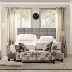 @Overstock - INSPIRE Q Tower Grey Linen High Profile Upholstered King-sized Bed - Elegant and neutral, this Sarajevo II bed keeps a sophisticated alternative to traditional wood pieces, but features more of a regal and high profile headboard.  http://www.overstock.com/Home-Garden/INSPIRE-Q-Tower-Grey-Linen-High-Profile-Upholstered-King-sized-Bed/8550178/product.html?CID=214117 $669.99