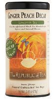Ginger Peach Decaf Tea - did you know that ginger helps alleviate nausea due to pregnancy?