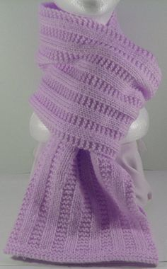 Garter Ribbed Scarf Hand Knitting PDF Pattern by KnitsByJo on Etsy, $4.50