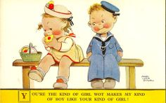 CHILDREN :You're the kind of girl wot makes my...-MABEL LUCY ATTWELL-VALENTINE'S