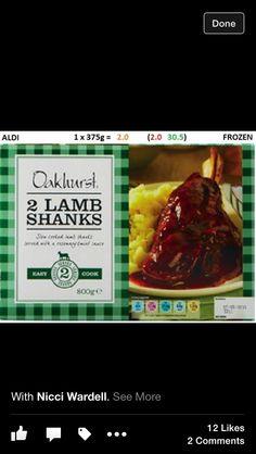 Aldi lamb shanks - 2 syns !!!