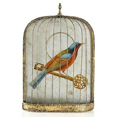 Love - bird in gilded cage tattoo idea