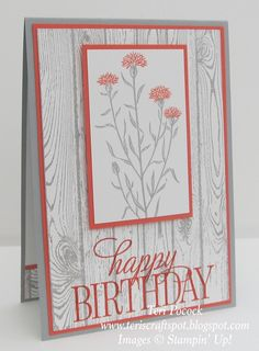 Stampin' Up! UK Demonstrator - Teri Pocock: Another Wild About Flowers! Stampin Up Anleitung, Bday Cards, Stamping Up Cards, Cool Cards, Cards Diy, Sympathy Cards, Paper Cards, Flower Cards, Creative Cards