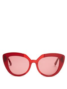 a645677bf9b Imbue a host of springtime looks with the retro vibe of Marni s red acetate  Prisma sunglasses