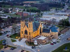 St. Andrews Catholic Church at sunrise - #roanoke by creativedogmedia