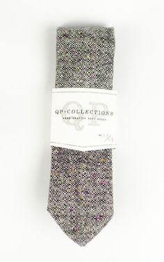 Wool Tweed Necktie - Pepper