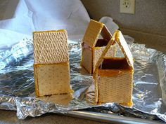 how to make gingerbread houses stick together without frosting