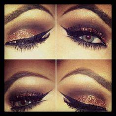 Beautiful dramatic eye shadow make up for a glamorous wedding day look #weddingmakeup #glamorousmakeup #dramaticmakeup
