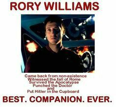 Yes. Rory Williams wins all.