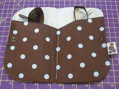 Panos e Contas - artesanatos em tecido: porta óculos duplo