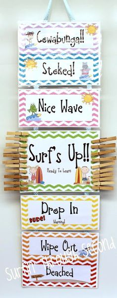 Surf's Up! Behavior Clip Chart Makeover