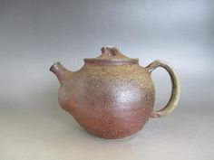 Japanese Bizen ware teapot w/sign/ nice back-handle style/ 7720 Teapot, Handle, Asian, Japanese, Antiques, Nice, Tableware, Ebay, Style