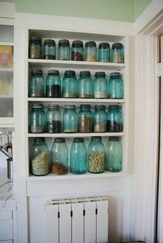 Apothecary Blue Jars